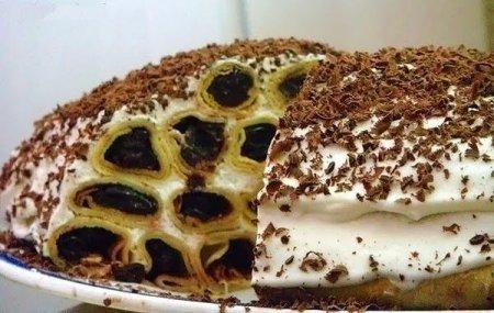 Тортик Дрова под снегом