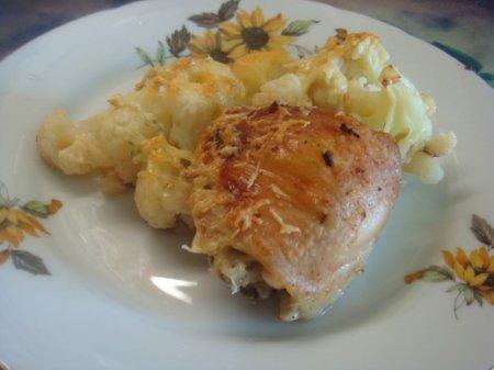 Рецепт Курица,запеченная с цветной капустой