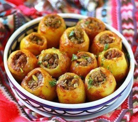 Рецепт картошки фаршированной мясом