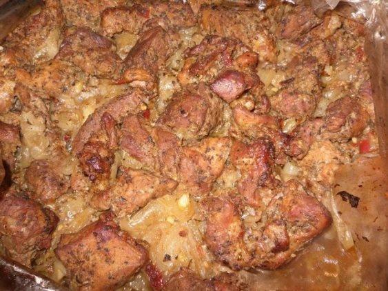 рецепт шашлыка в духовке на луковой подушке