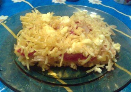 Макароны, запеченные с помидорами