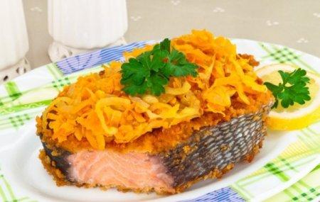 Жареная красная рыба