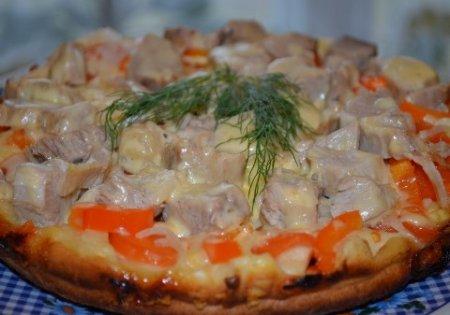 Пицца жаренная на сковороде