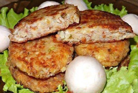 Гречневые котлеты с сыром и луком