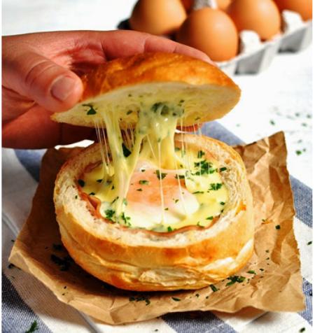 Бутерброды с ветчиной и сыром в духовке