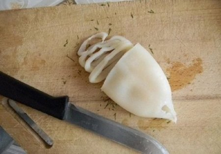 Кольца кальмара в кляре