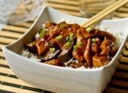 Курица с баклажанами «По-китайски