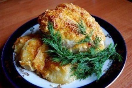 Куриные грудки запеченные с сыром.