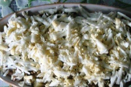 Крекерный салат «Рыбки»