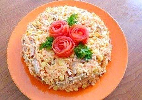 Салаты с грибами и колбасой рецепты с простые и вкусные