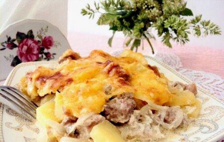 Картошка по французски с мясом