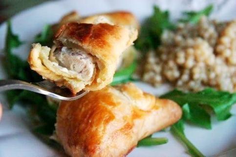 рецепт пирожки с курицей и сливочным сыром