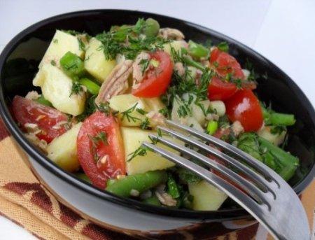 Салат с тунцом Ницца