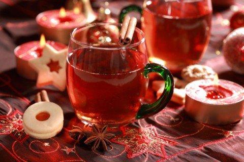 Чай с пряностями и клюквой