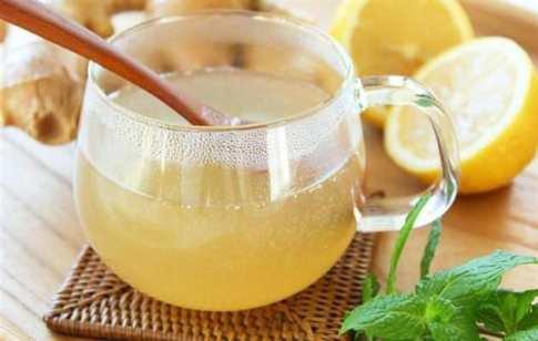 Имбирный напиток от простуды.