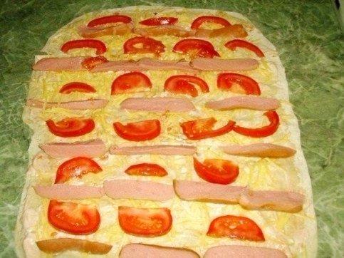 Запеченный лаваш в духовке