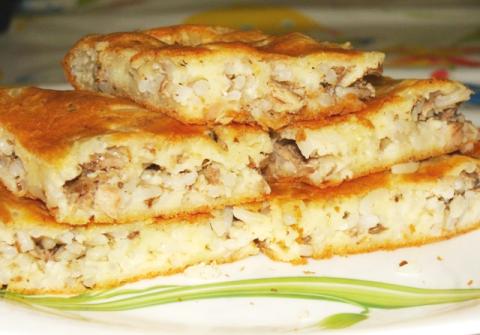 Пирог с капустой и консервой рецепт