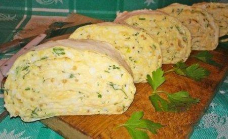Закуска из лаваша с сыром.