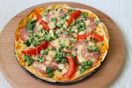 Эконом пицца на лаваше - быстро и очень вкусно!