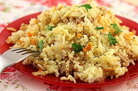 Куриный фарш с рисом.