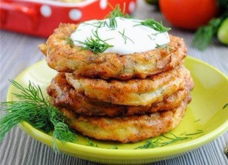 рецепт оладий из кабачков с сыром и чесноком