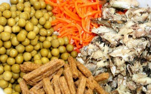 Салаты из крабовых палочек горошка кукурузы 110