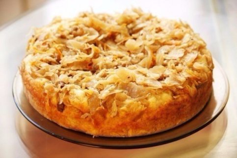 Быстрый пирог с капустой