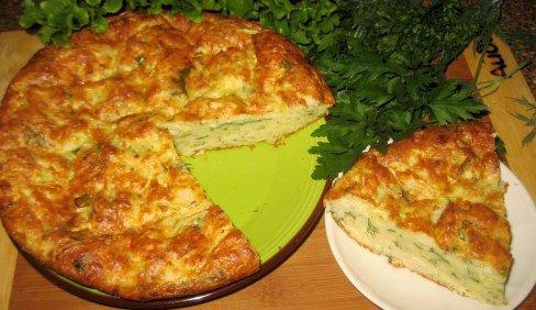 Греческий пирог с кабачками.