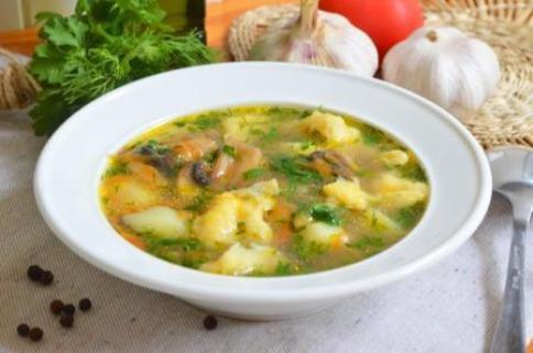суп грибной с клецками рецепт