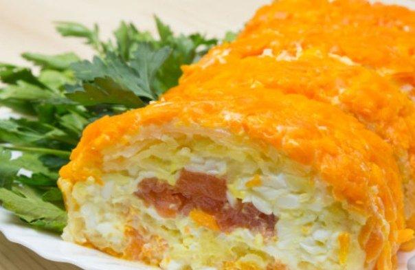 Салат-закуска «Царский рулет»