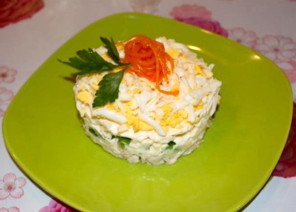 Салат с плавленым сыром и курицей ♨