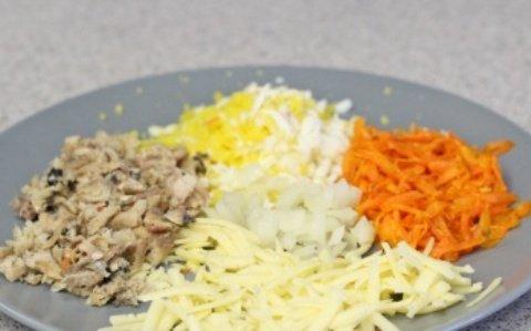 Салат из рыбных консервов с морковью ♨